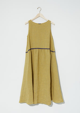 Micrtartan Linen Dress