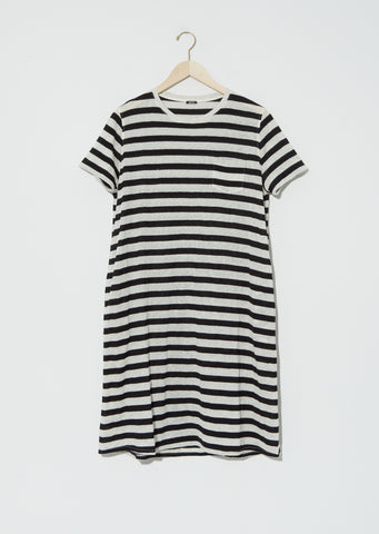 Metallic Jersey Stripe Tee Dress