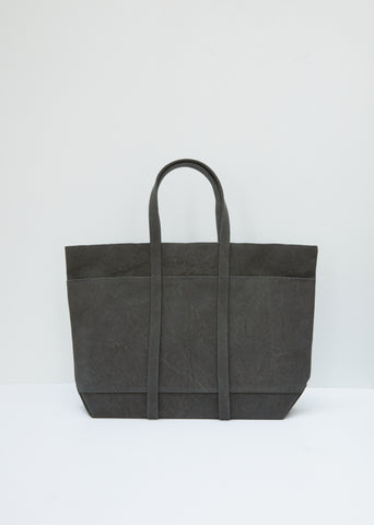 Washed Canvas 6-Pocket Tote M — Olive