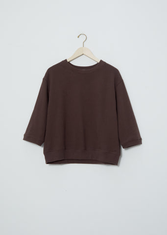 3/4 Sleeve Sweatshirt — Chocolate
