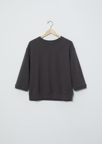 3/4 Sleeve Sweatshirt — Charcoal