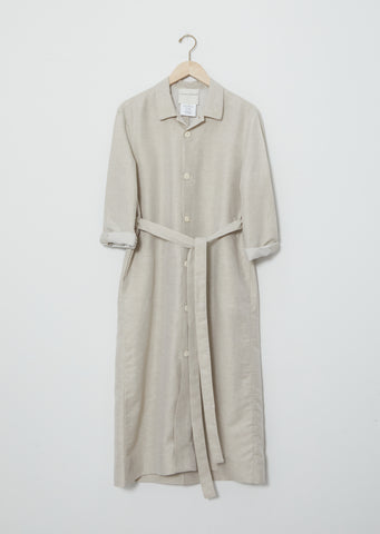 Cotton Grid Lourdes Coat Dress