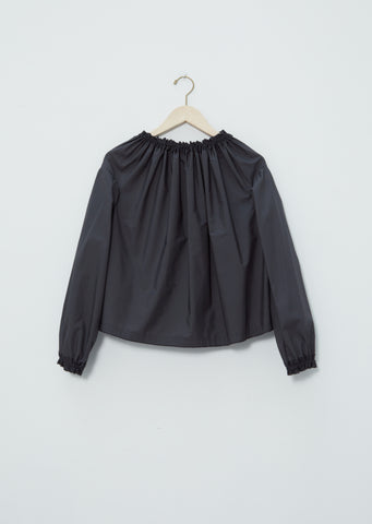 Cotton Gathered Neck Blouse