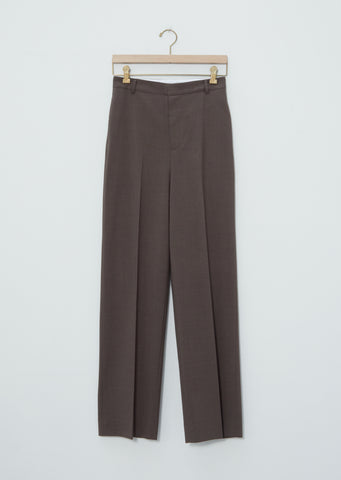 Mix Wool Straight Leg Tailored Trousers