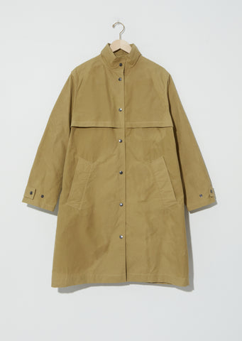 Washed Cotton Miners Coat — Faded Olive