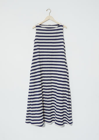 Metallic Jersey Stripe Long Dress