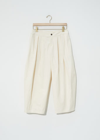 Heavy Popeline Tuck Pants