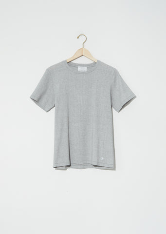 Biwa Cotton Short Sleeve Tee — Mix Grey