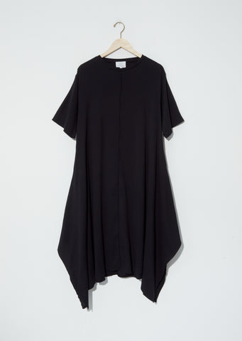Biwa Cotton Dress — Black