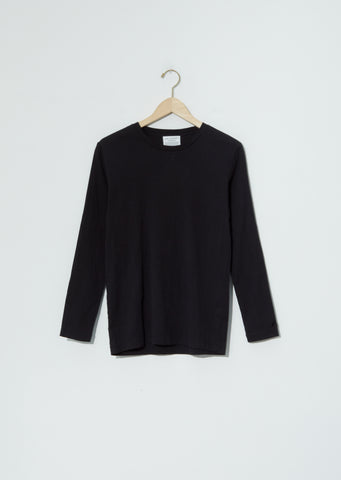 Biwa Cotton Long Sleeve Tee — Black