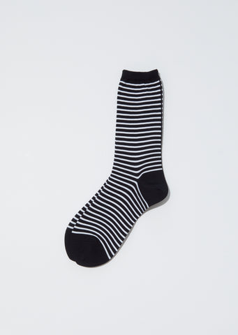 Stripes Socks — Black x White