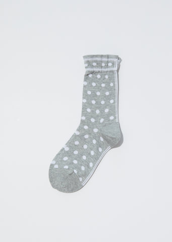 Classic Dot Socks — Mix Grey