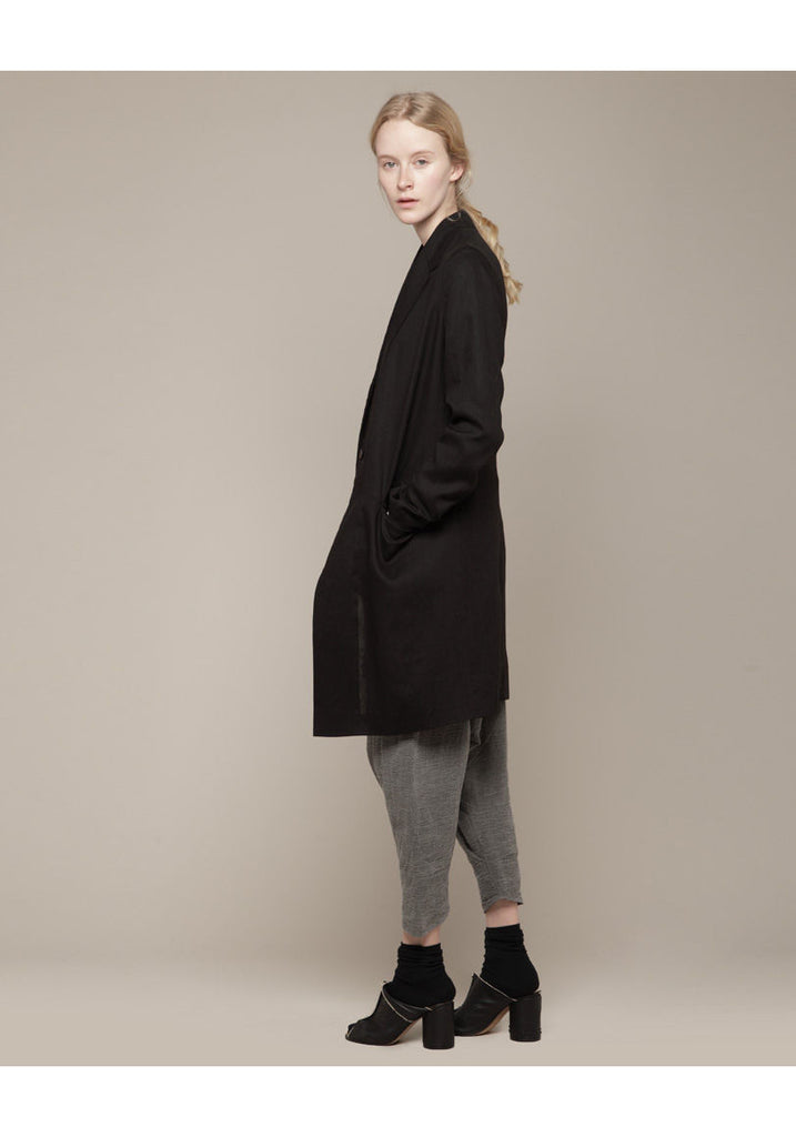 Single Button Faux Coat