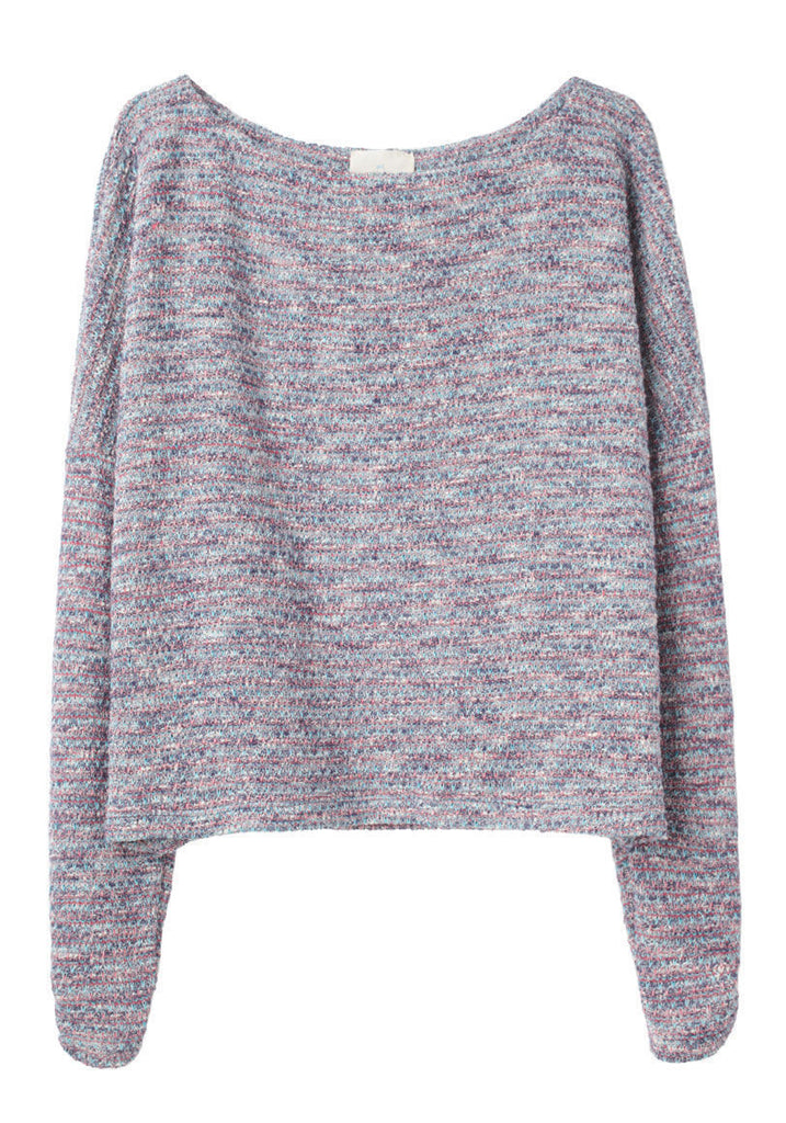 Knit Tweed Sweatshirt