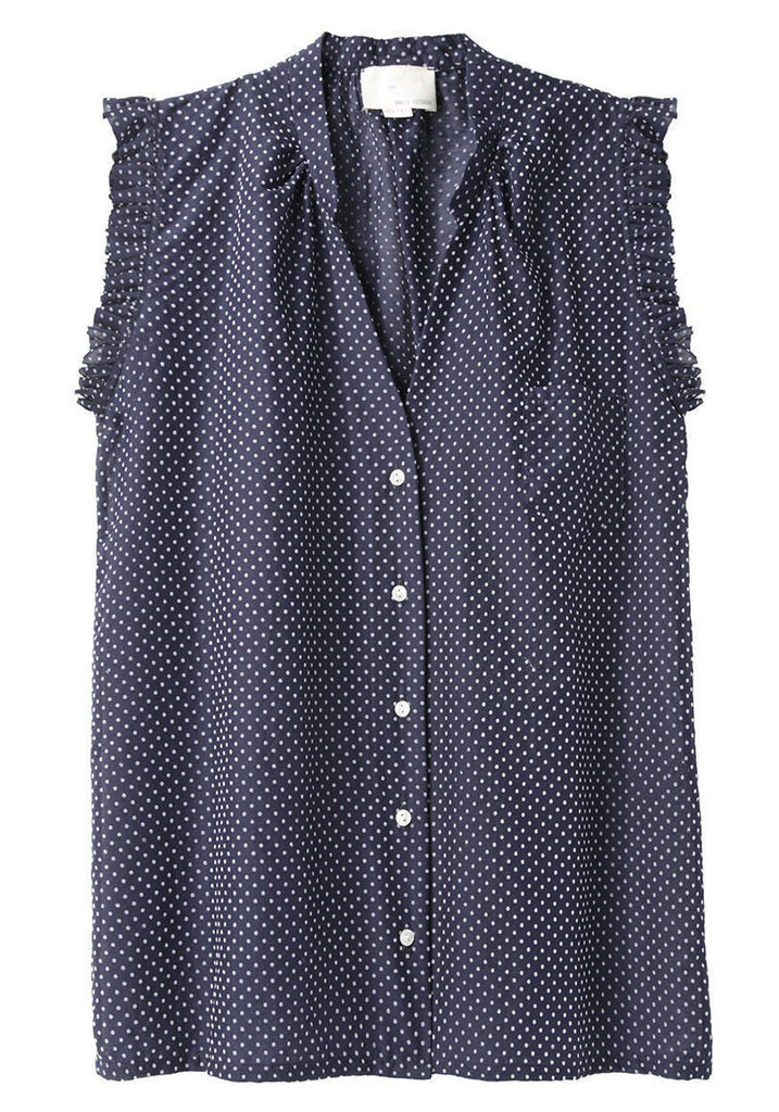 Mini Dot Ruffled Top