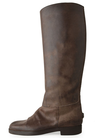 Tall Distressed Leather Boot