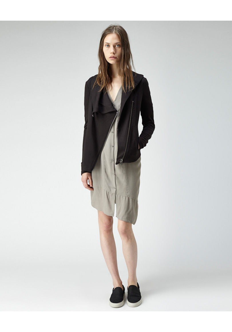 Asymmetric Zip Sweatshirt
