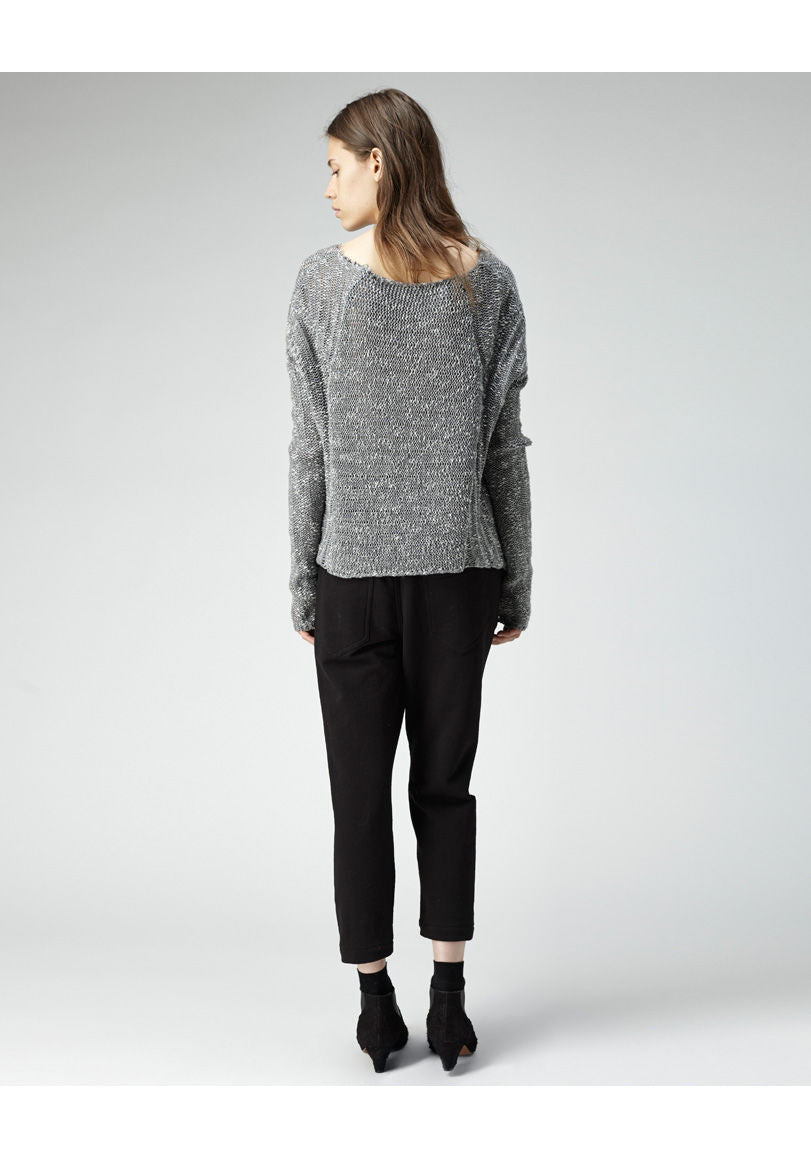 Caged Bouclé Pullover