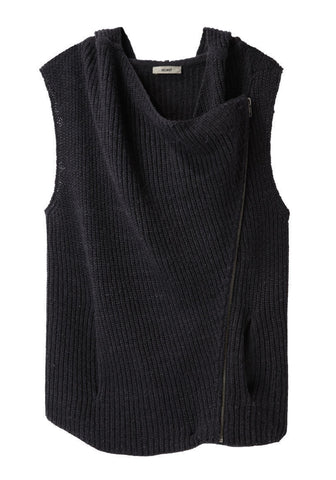 Hooded Zip Sweater Vest
