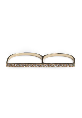 Double Finger Flat Ring