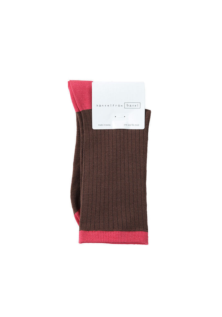 Silk Rib Colorblock Socks - MERGE W AHB02BSS13