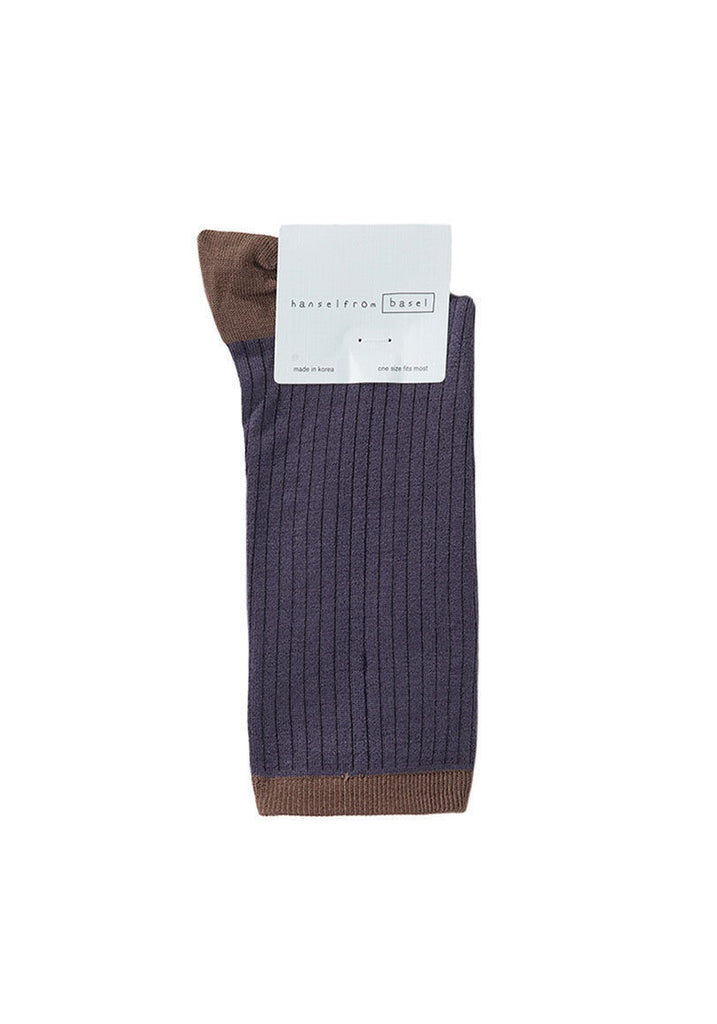 Silk Rib Colorblock Socks - MERGE W AHB02MSS13