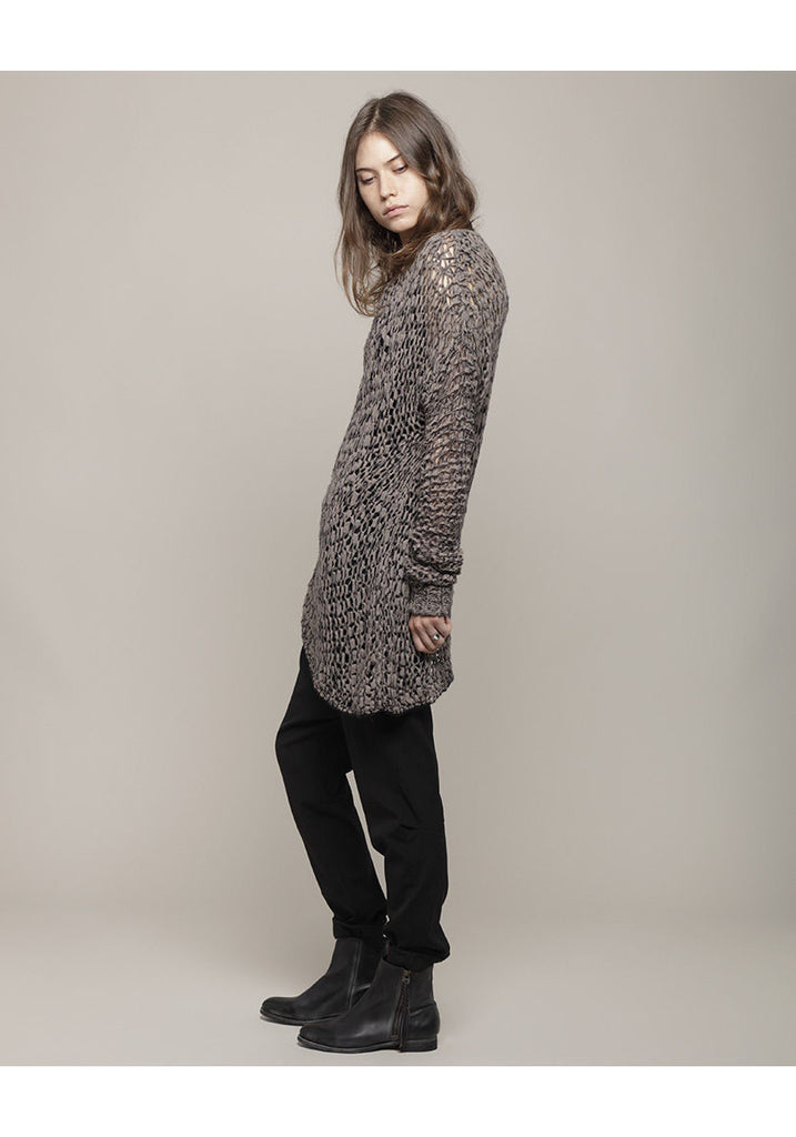 Asymmetric Loop Knit Tunic