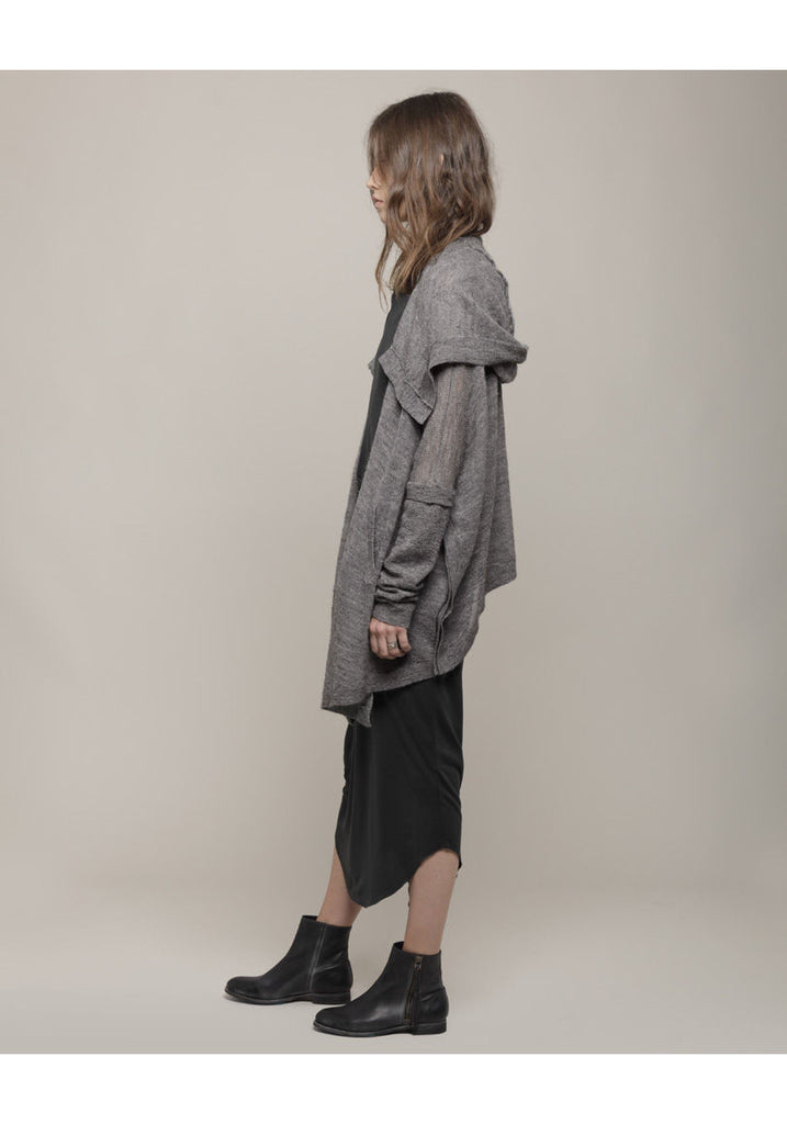 Bare Boucl' Hooded Poncho