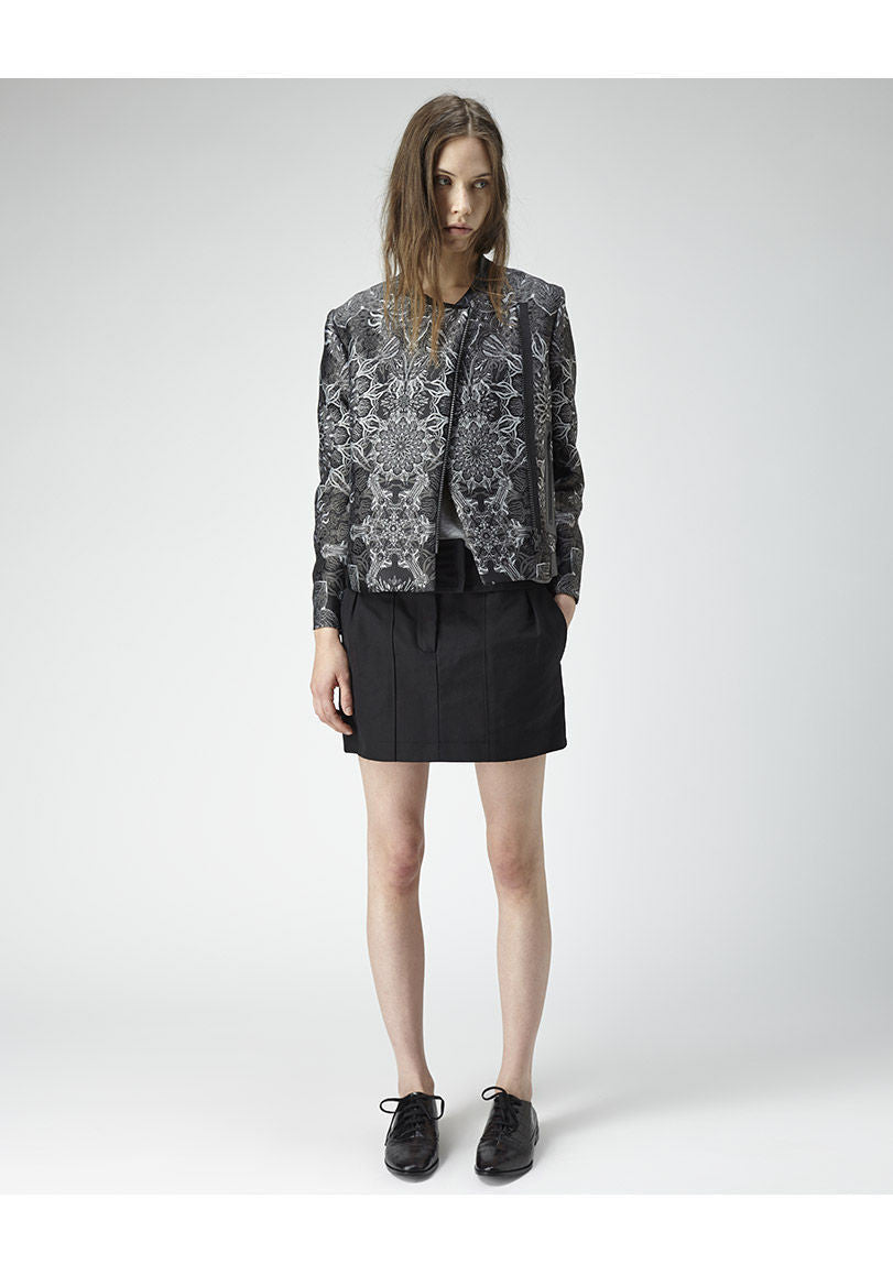 Boxy Medallion Jacquard Jacket