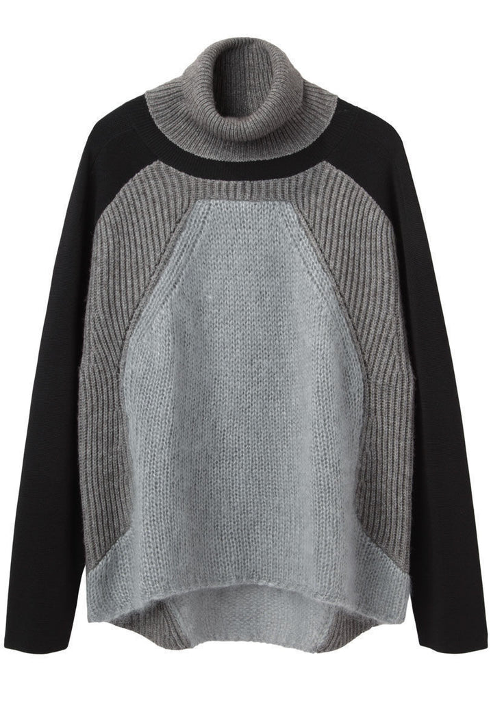 Colorblock Knit Turtleneck