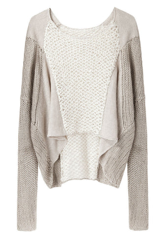 Crop Front Linen Sweater