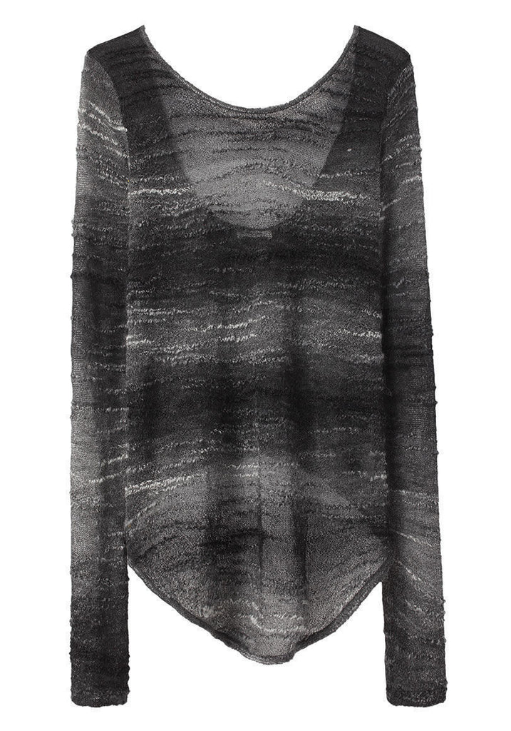 Distorted Mohair Pullover