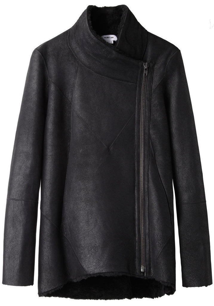 Double Collar Shearling Coat