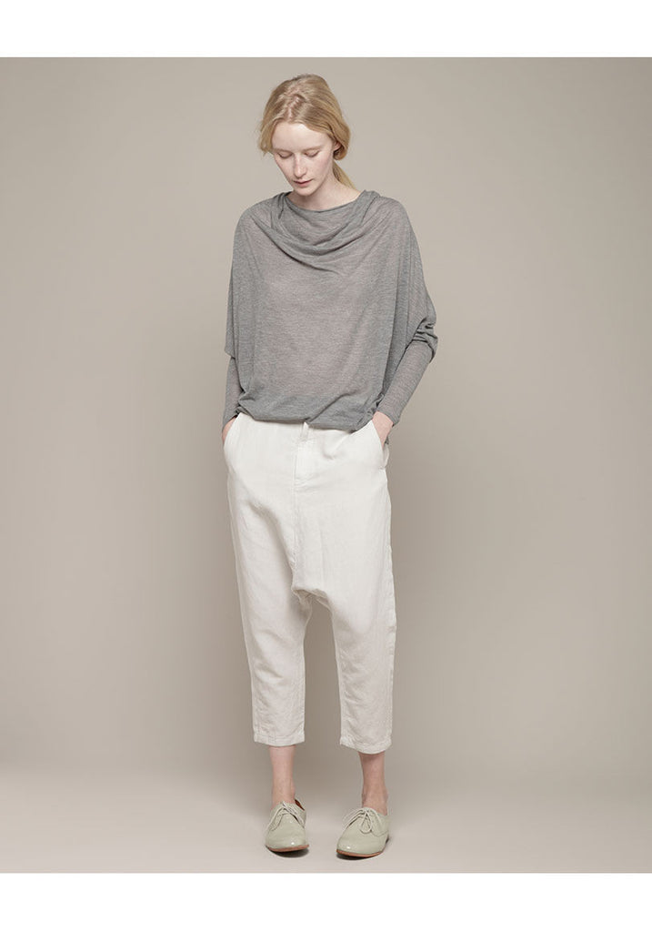 Drapey Cowl Neck Cashmere Tee