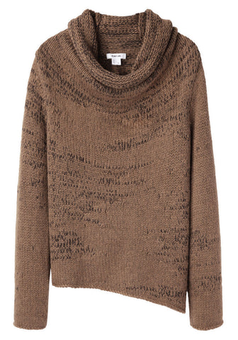 Willowed Cord Cowlneck Sweater