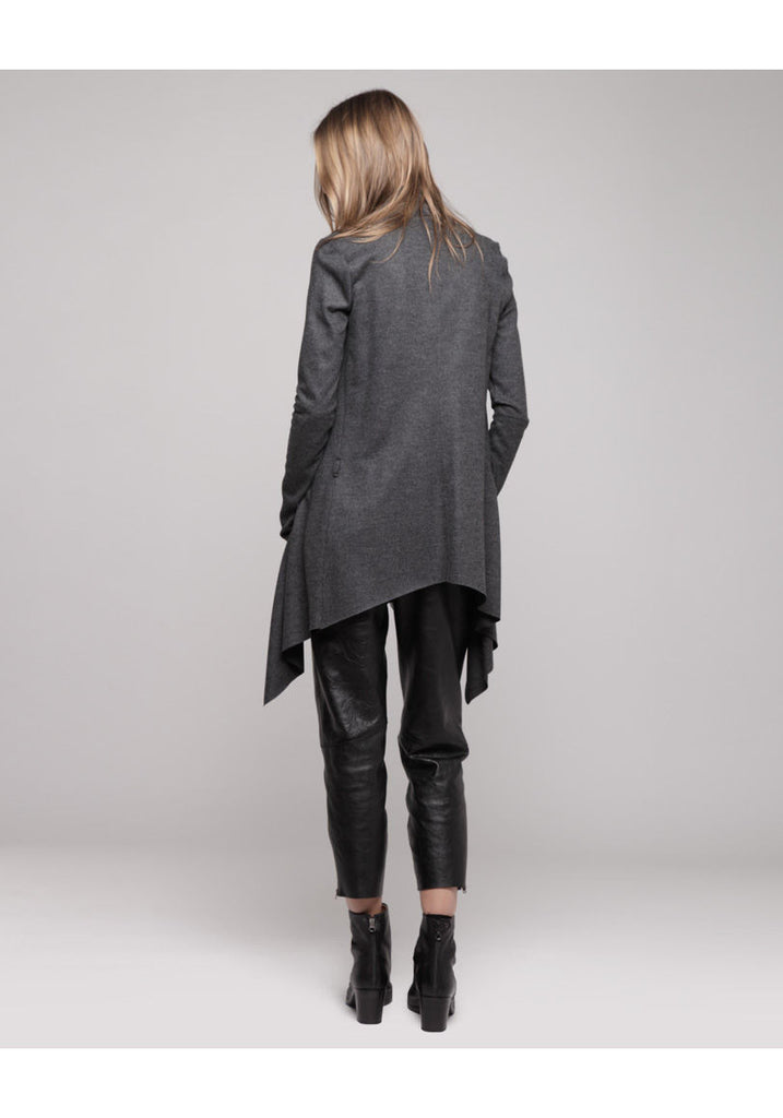 Wool Draped Cardigan