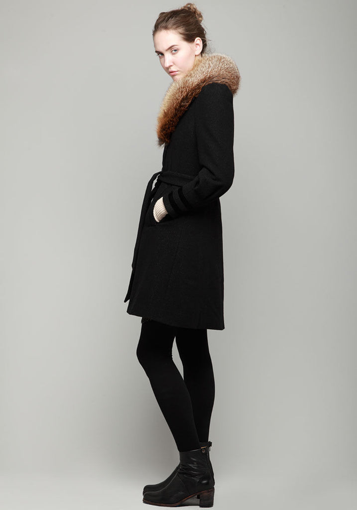 Nina Coat w/ Fur Collar