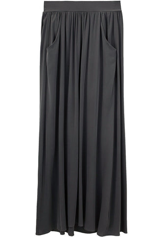Stretch Georgette Long Skirt