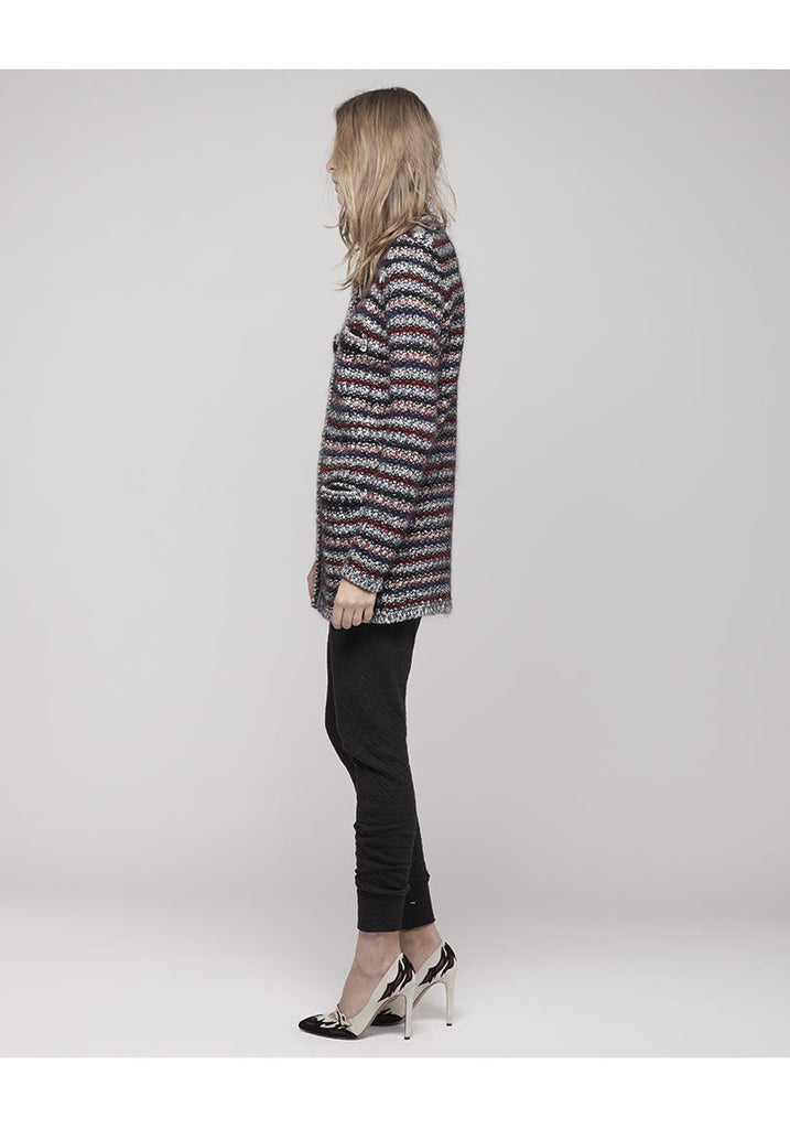 Barney Long Boucl' Knit Cardigan