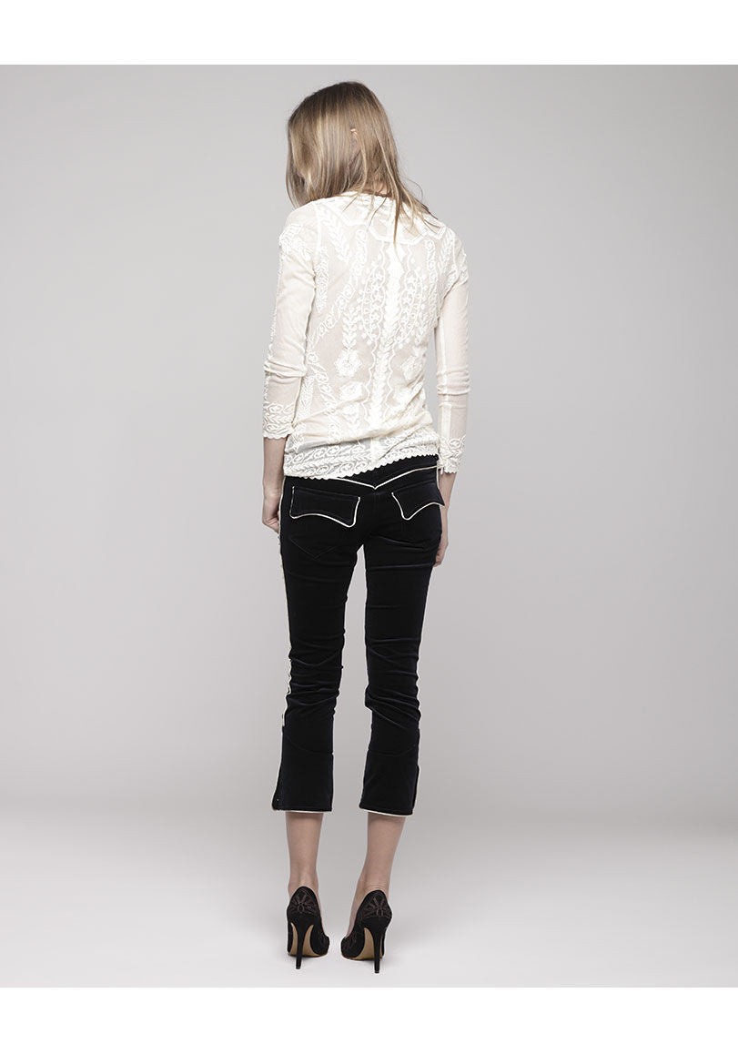 Bauer Cropped Pants with Piping