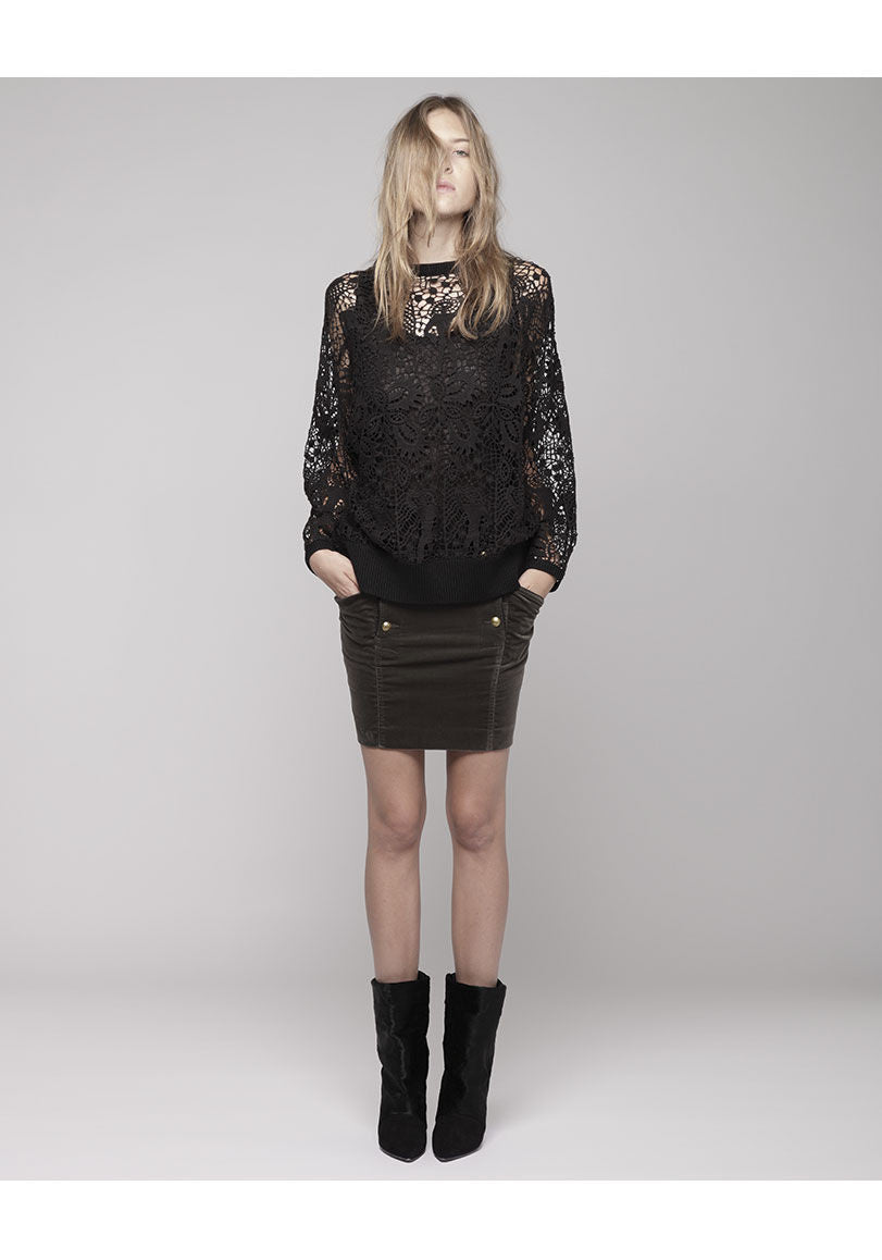 Caja Long Sleeve Lace Top