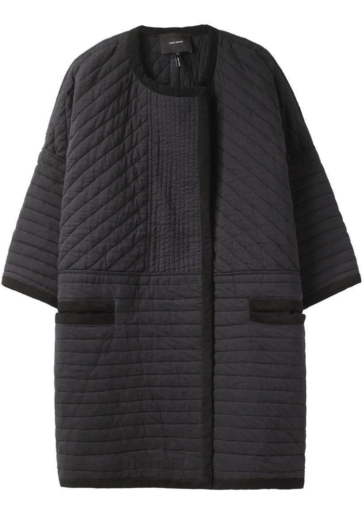 Coby Collarless Coat