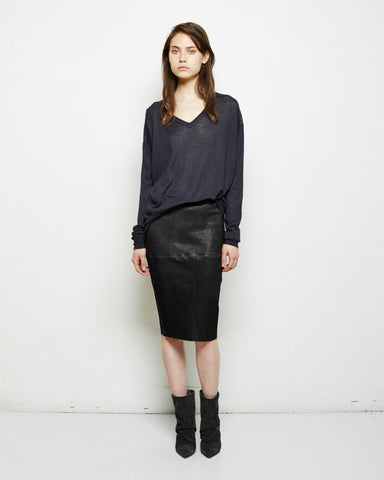 Devon Leather Skirt