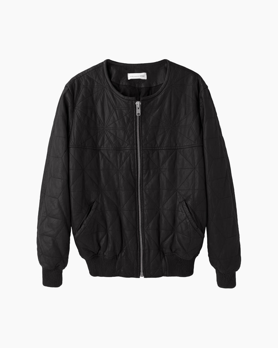 Blair Quilted Leather Bomber