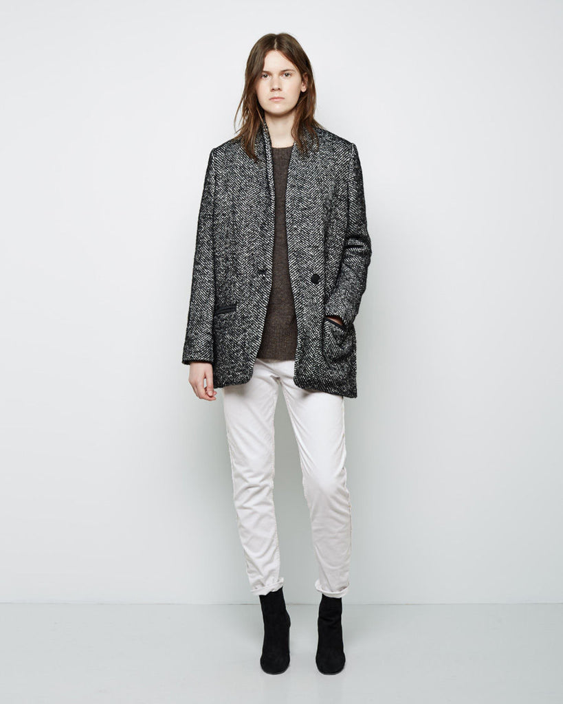 Denver Short Herringbone Coat