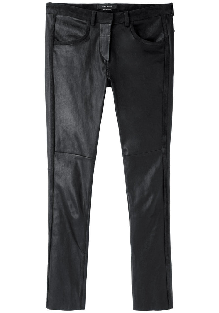Ice Cropped Leather Pants