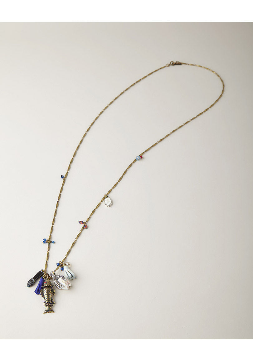 Long Crazy Fish Necklace