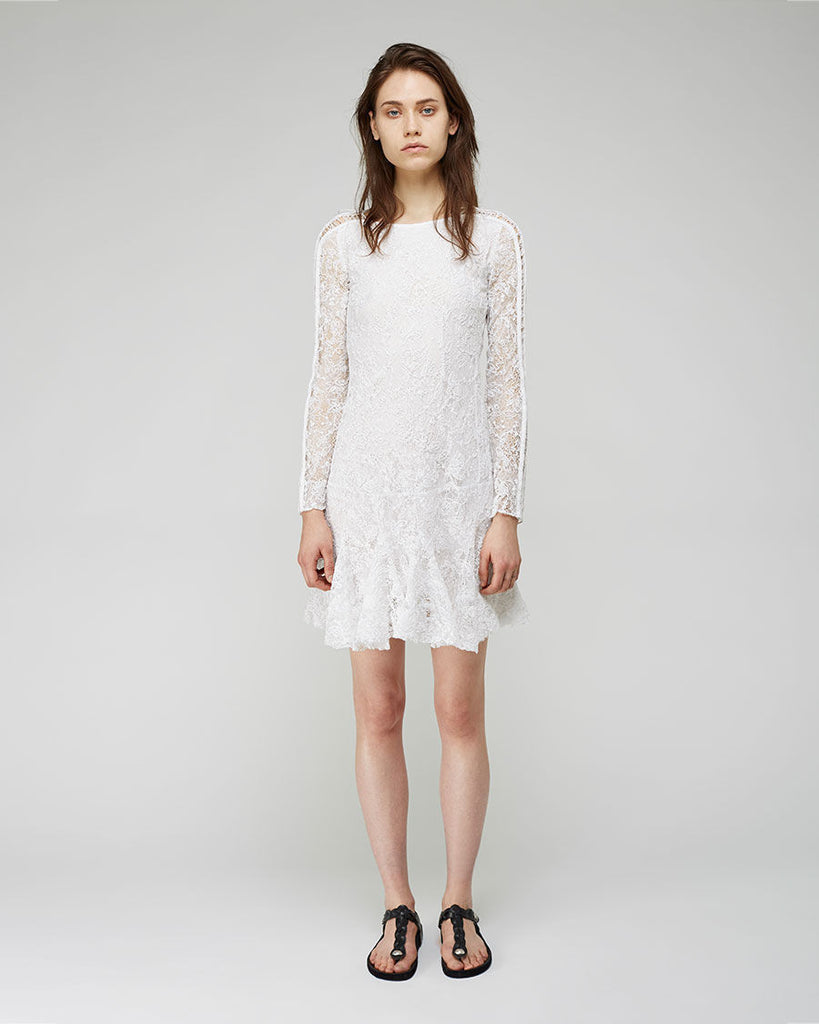 Magda Embroidered Lace Dress