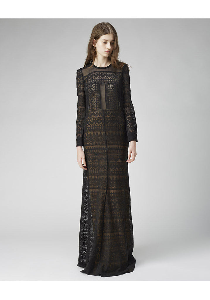 Talma Embroidered Long Dress