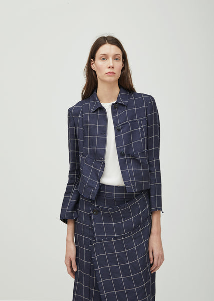 Limberly Li Check Patched Jacket
